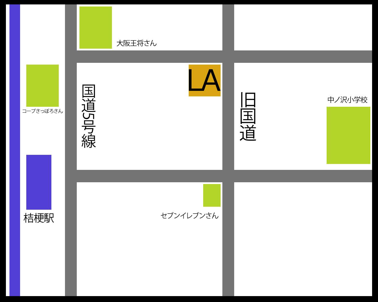 ラディークのアクセスマップ